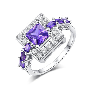 Amethyst Square Crystal Ring - atperry's healing crystals