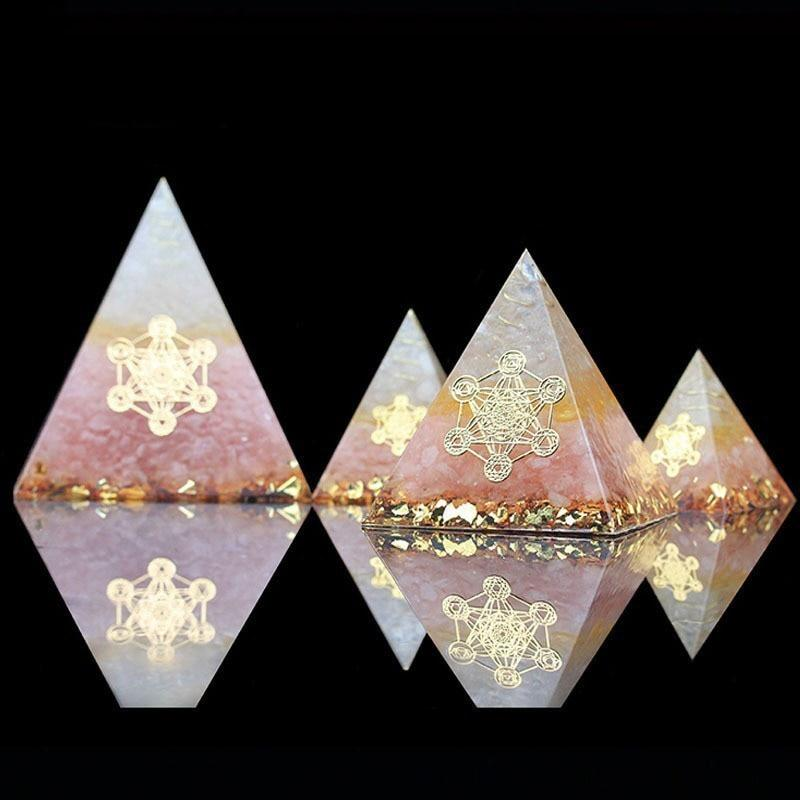 Orgone Rose Quartz Crystal Pyramid