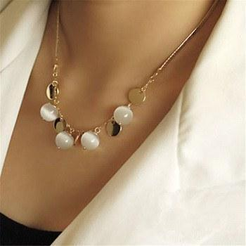 Bohemian Style Crystal Opal Beads Tassel Pendant Clavicle Chains Necklace   AtPerrys Healing Crystals   1