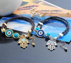 Hamsa Hand Amulet Bracelet - atperry's healing crystals