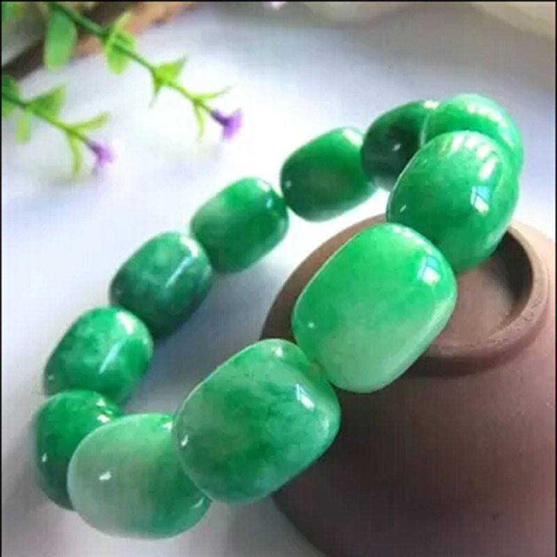Natural Green Jade Bracelet - atperry's healing crystals