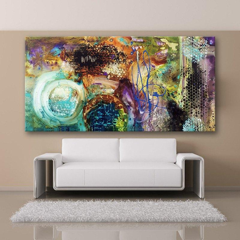 Abstract Art Wall Painting (Unframed)   AtPerrys Healing Crystals   1