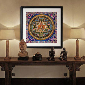 Tibetan Art Buddha Spiritual Canvas Painting (Unframed) - atperry's healing crystals