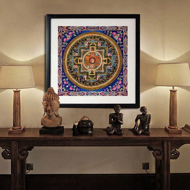 Tibetan Art Buddha Spiritual Canvas Painting (Unframed)Canvas70CMx70CM
