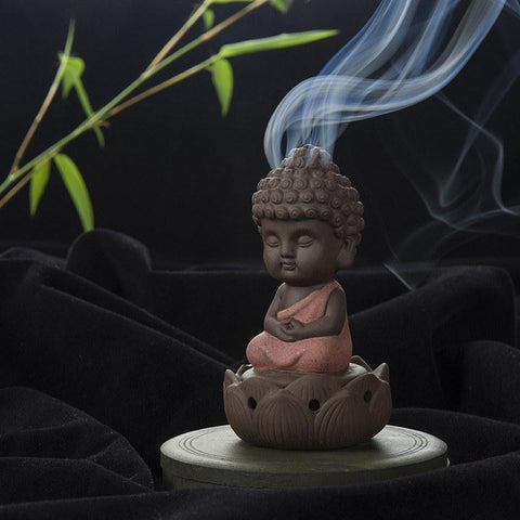 Creative Buddha Backflow Incense Burner   AtPerrys Healing Crystals   1
