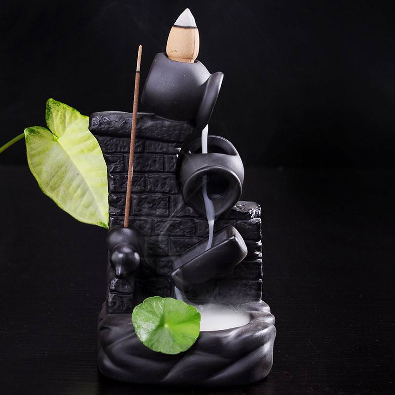 Flower Pot Incense Burner   AtPerrys Healing Crystals   1