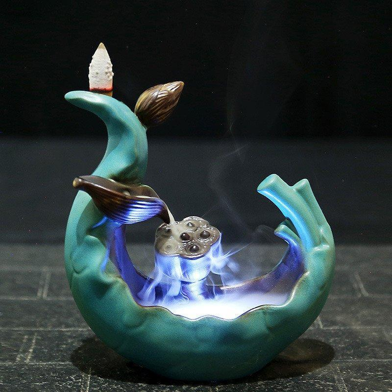 Led Incense Burner Variable Glaze Backflow - atperry's healing crystals