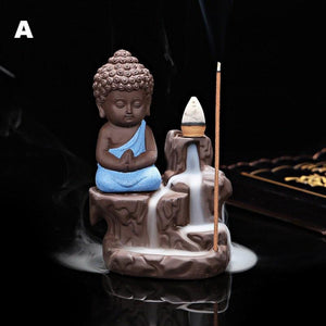 The Little Monk Ceramic Incense Burner   AtPerrys Healing Crystals   1