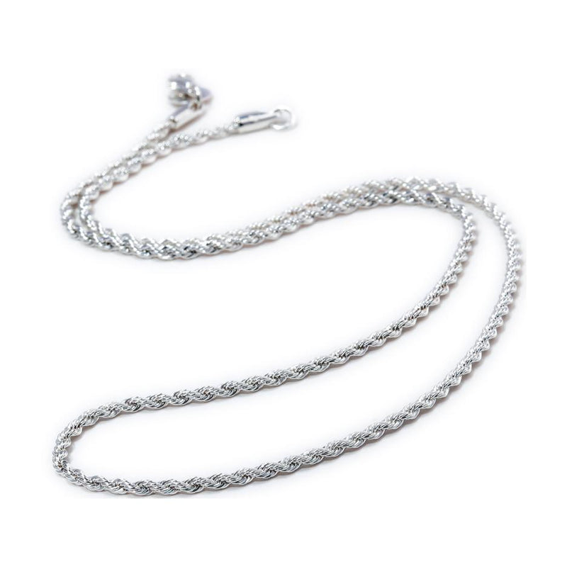 925 Sterling Silver Twisted ChainNecklace16 in