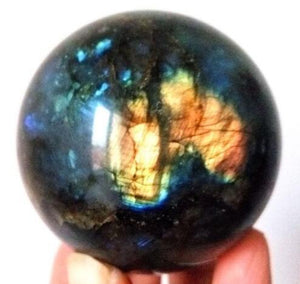 100% Natural Labradorite Quartz ball - For Healing - atperry's healing crystals