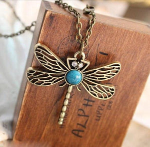 Dragonfly Necklace   AtPerrys Healing Crystals   1