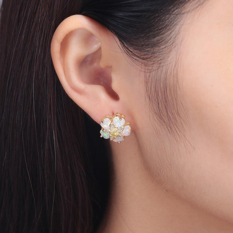 Cherry Blossom Opal Stud EarringsEarrings