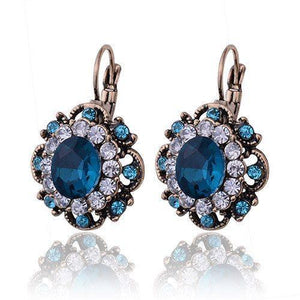 Sapphire Crystal Drop Earrings   AtPerrys Healing Crystals   1