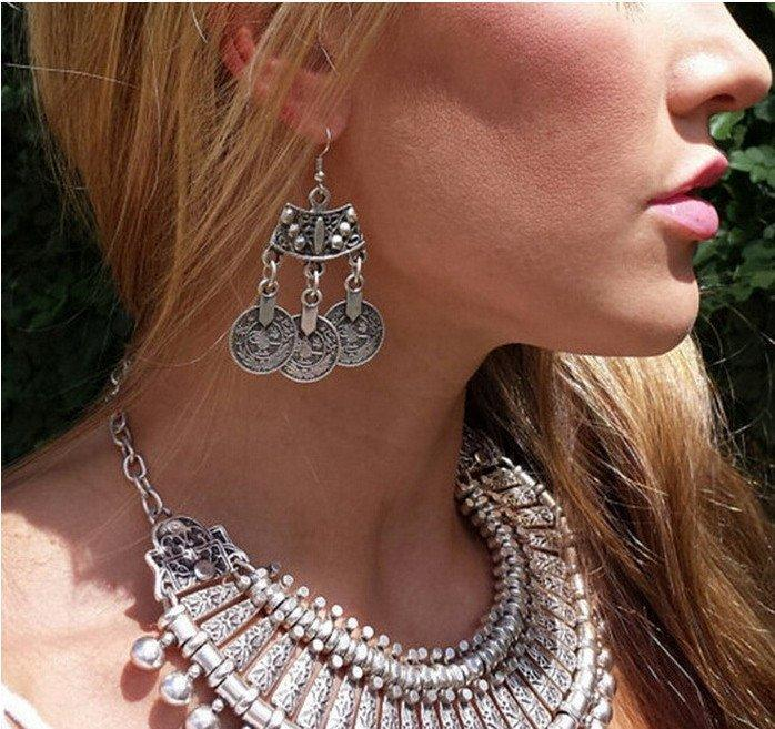 Turkish Coin Drop Earrings - AtPerrys Healing Crystals - 1