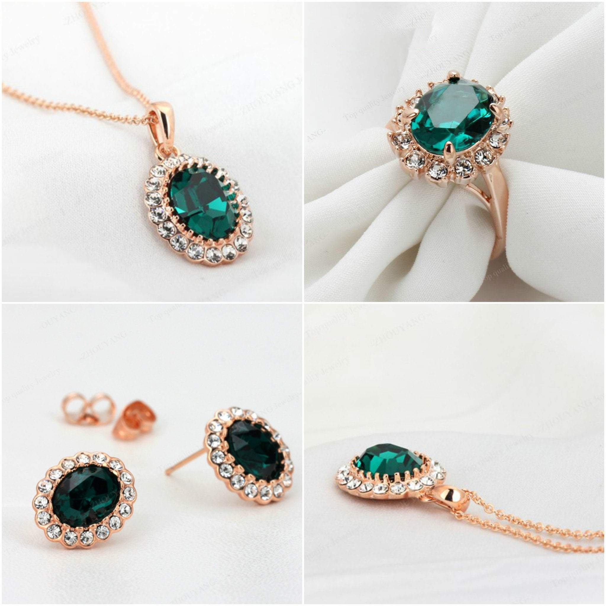 drop earrings emerald image halo diamond and topaz white jewellery gold in stud blue