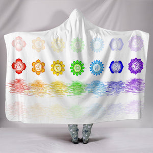 Spiritual Seven Chakras Hooded Blanket - atperry's healing crystals