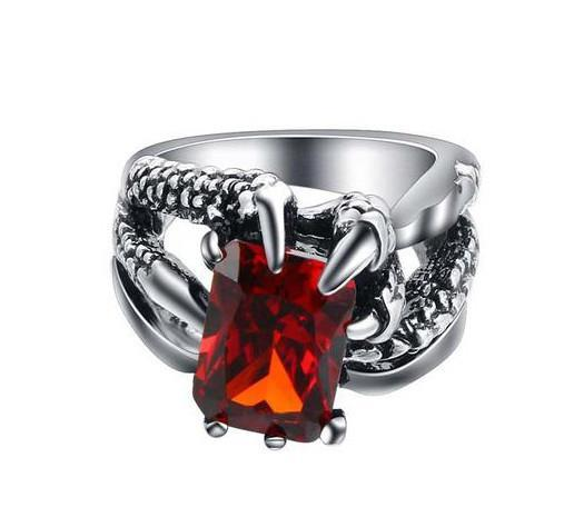 Claw Ruby Silver Ring - AtPerry's Healing Crystals™