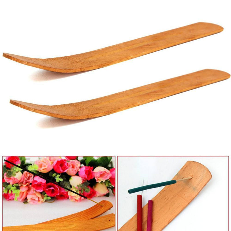 Natural Wooden Incense Stick Burner (3pcs) - atperry's healing crystals