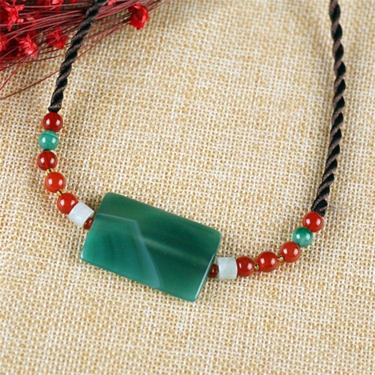 Jade Agate Beads DIY Choker Necklace - AtPerrys Healing Crystals - 1