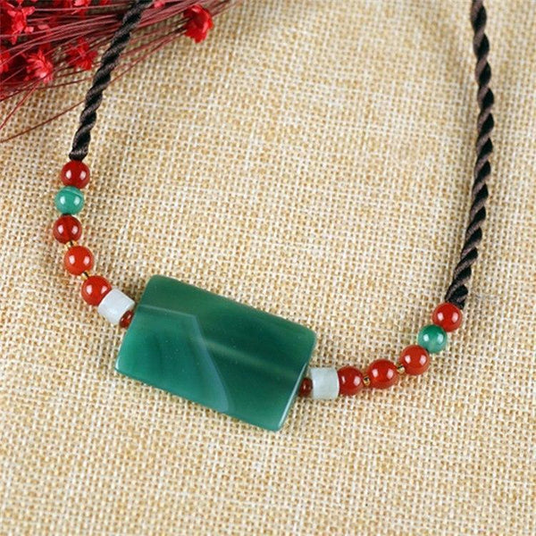 Jade Agate Beads DIY Choker Necklace