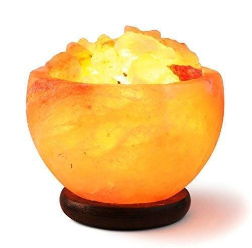 Himalayan Rock Salt Bowl Lamp (USA 2-day Delivery) - Available for USA ONLY! - atperry's healing crystals