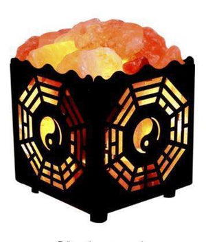 Natural Himalayan Salt Lamp in Metal Basket with Dimmable Cord (Shipping to US only)Salt Lamp