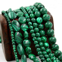 Malachite stone Beads   AtPerrys Healing Crystals   1