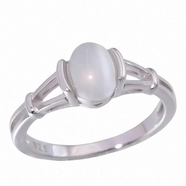 Moonstone Silver Ring - Sterling Silver
