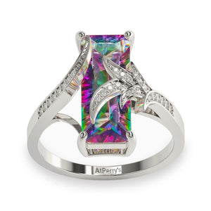 Luxurious Rainbow Mystic Topaz Ring - 925 Sterling Silver - atperry's healing crystals
