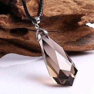 Natural Smoky Quartz Pendant Pendulum Crystal Healing Necklace - atperry's healing crystals