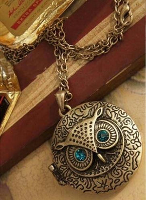Chic Owl Eye Pendant Necklace   AtPerrys Healing Crystals   1