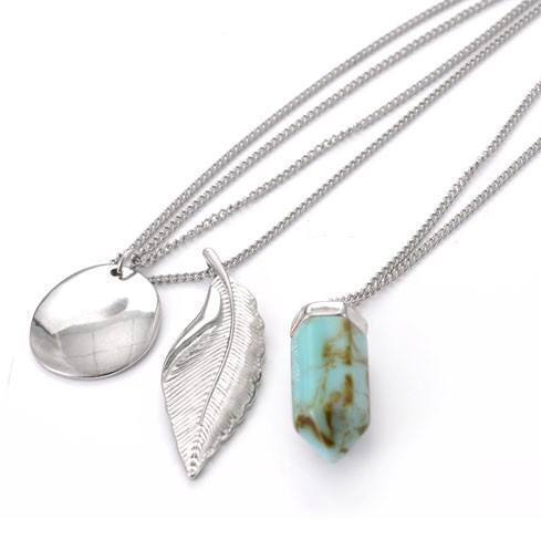 Multilayer Natural Stone-Leaf Necklace - atperry's healing crystals