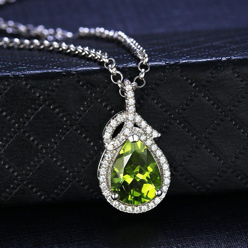 Peridot 925 Silver Luxury necklace - AtPerrys Healing Crystals - 1