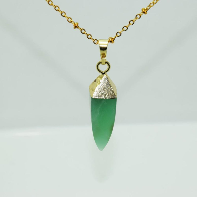 Natural Chrysoprase Chain Pendant - atperry's healing crystals