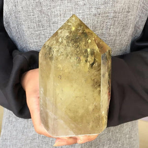 Large Natural Citrine Crystal (1kg) - atperry's healing crystals