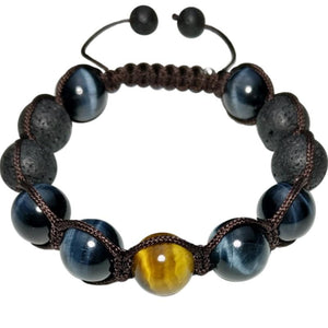Hand Knitted Tiger Eye Energy Bracelet