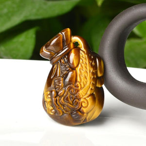 Natural Carved Tiger's Eye Gem