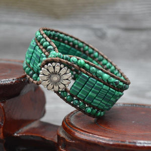 Natural Bohemian Malachite Bracelet - atperry's healing crystals