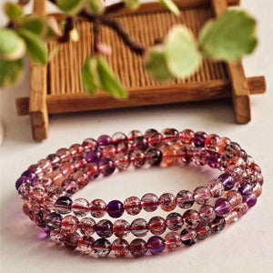 Genuine Colorful Super 7 Crystal Bracelet - atperry's healing crystals