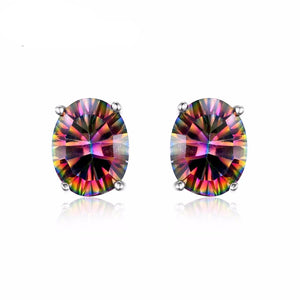1.5ct Fire Rainbow Mystic Topaz Earrings - atperry's healing crystals