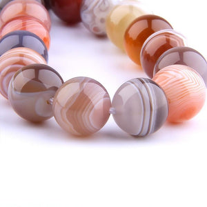 Polished Natural Botswana Agate Beads Stone - atperry's healing crystals