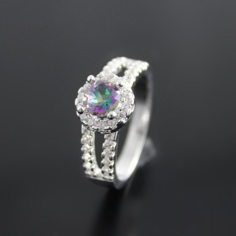 Rainbow Mystic Topaz Ring - atperry's healing crystals