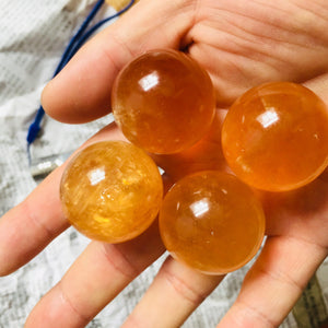 Natural Crystal Honey Calcite Stoneraw stone