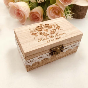 Wood Custom Engraved Ring BoxRing Holder