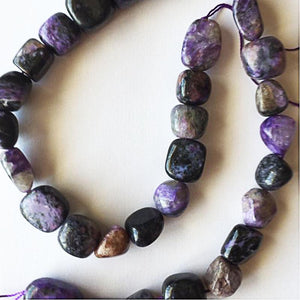 Natural Charoite Crystal Beads - atperry's healing crystals