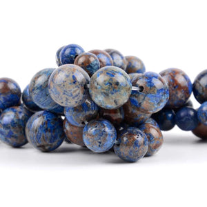 Natural Blue Charoite Round Bead Stones - atperry's healing crystals