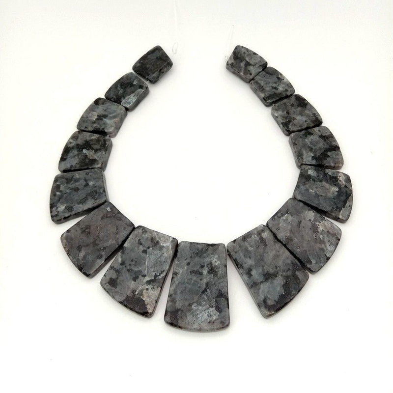 Black Larvikite Graduated Set Beads - atperry's healing crystals