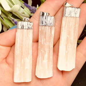 1pc Natural Selenite Crystal Rod Stone - atperry's healing crystals