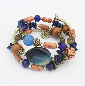 Rhinestone Multilayer Bracelet - atperry's healing crystals