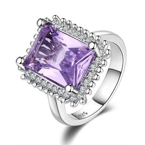 Amethyst Zircon Splendid Ring - 925 Sterling Silverring8